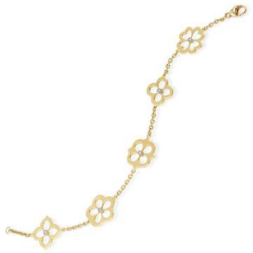 Gumuchian G. Boutique 18k Gold Diamond Multi Flower Motif Bracelet