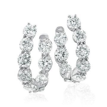 Gumuchian New Moon 18k White Gold Diamond Earrings