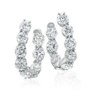 Gumuchian New Moon Platinum Hoop Earrings