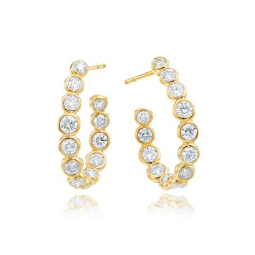 Gumuchian Moonlight 18k Gold R-Curved Hoop Earrings