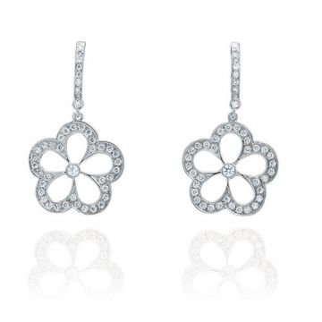 Gumuchian G. Boutique 18k White Gold Diamond Daisy Earrings