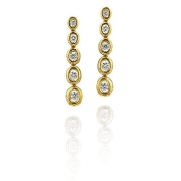 Gumuchian Oasis 18k Yellow Gold Illusion Diamond Drop Earrings