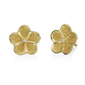 Gumuchian G. Boutique 18k Yellow Gold Diamond Daisy Earrings