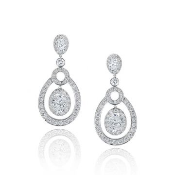 Gumuchian Carousel Convertible 18k White Gold Diamond EaRing