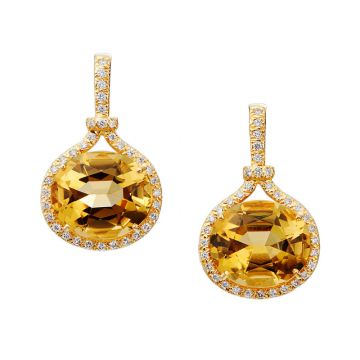 Gumuchian Gallop Equestrian 18k Yellow Gold Citrine Drop Earrings