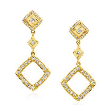Gumuchian Kite 18k Yellow Gold Diamond Earrings
