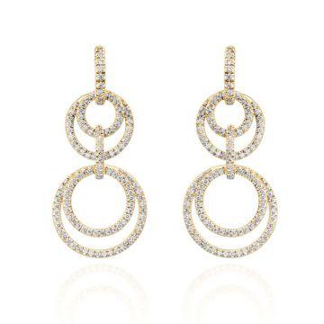 Gumuchian Moon Phase 18k Yellow Gold Diamond Convertible Earrings