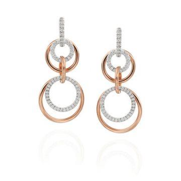 Gumuchian Moon Phase 18k Two Tone Gold Diamond Convertible Earrings