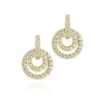 Gumuchian Moon Phase 18k Gold and Diamond Drop Convertible Earrings