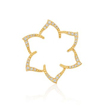 Gumuchian Pave 18k White Gold Diamond Floral Hair Jewel