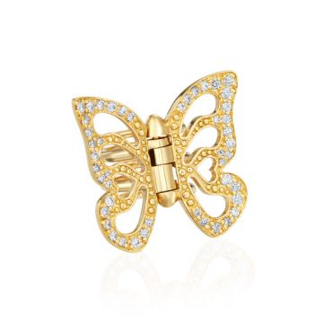 Gumuchian Butterfly 18k White Gold Hair Jewel