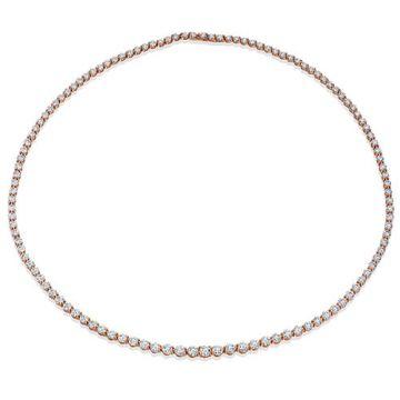 Gumuchian Cascade Riviera 18k Rose Gold Diamond Necklace