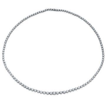 Gumuchian Cascade Riviera 18k White Gold Diamond Necklace