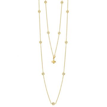 "Gumuchian Honeybee ""B"" 18k Gold Multi Motif Necklace"