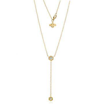 "Gumuchian Honeybee ""B"" 18k Yellow Gold Diamond Necklace"