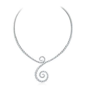 Gumuchian Cascade Riviera Platinum Diamond Symphony Necklace