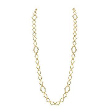Gumuchian Secret Garden Motif 18k Yellow Gold Convertible Diamond Necklace