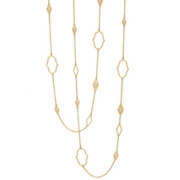Gumuchian Secret Garden 18k Yellow Gold Delicate Motif & Chain Necklace
