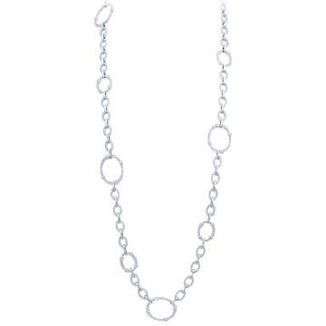 Gumuchian Carousel Convertible 18k White Gold Diamond Necklace