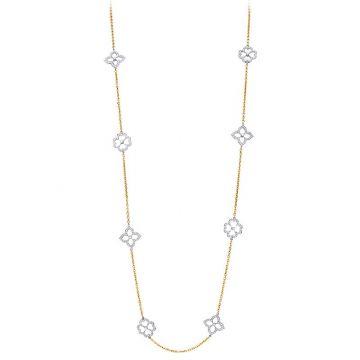 Gumuchian Daisy & Lotus Motif Diamond Pave Two-Tone Necklace