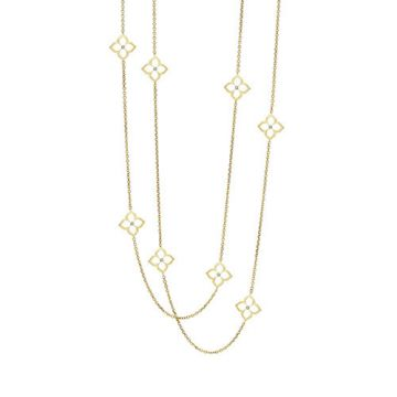 Gumuchian G. Boutique 18k Yellow Gold Diamond Lotus Necklace