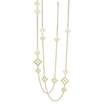 Gumuchian G. Boutique 18k Yellow Gold Diamond Lotus Multi Length Necklace