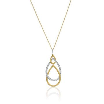 Gumuchian Peacock 18k Two Tone Gold Diamond Necklace