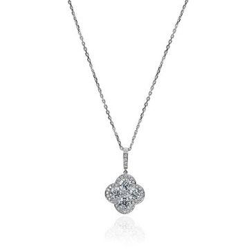 Gumuchian Fleur 18k White Gold Diamond Necklace