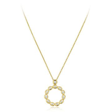 Gumuchian Oasis 18k Yellow Gold Illusion Diamond Pendant