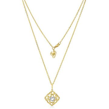Gumuchian 18k Yellow Gold Diamond Tiny Hearts Small Cushion Motif Pendant