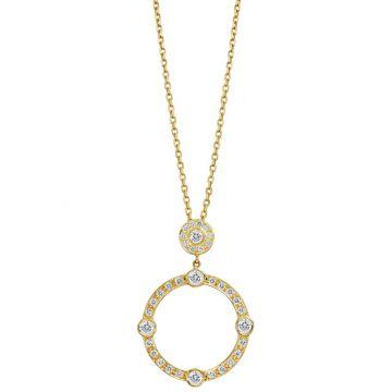Gumuchian Carousel Motif 18k Yellow Gold Diamond Sliding Pendant