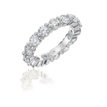 Gumuchian Cascade Riviera 18k White Gold Diamond Eternity Wedding Band
