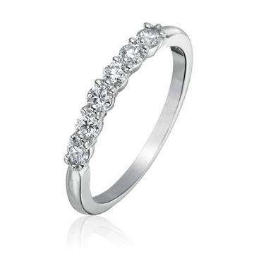 Gumuchian Bridal Platinum Diamond Anniversary Wedding Band