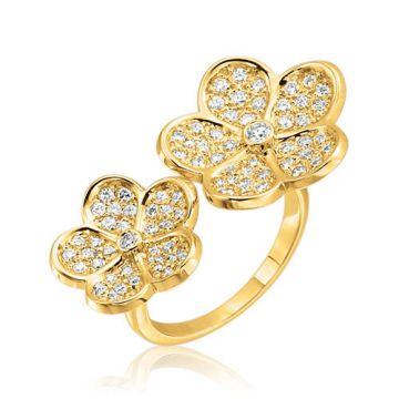 Gumuchian G. Boutique 18k Yellow Gold Diamond Daisy Ring