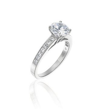 Gumuchian Bridal 18k White Gold Diamond Straight Semi-Mount Engagement Ring