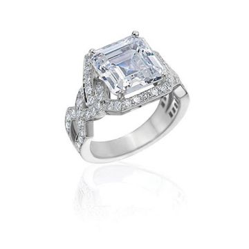 Gumuchian Bridal 18k White Gold Diamond Twisted Semi-Mount Engagement Ring