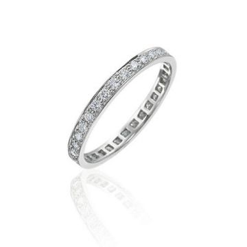 Gumuchian Bridal 18k White Gold Cinderella Diamond Eternity Wedding Band