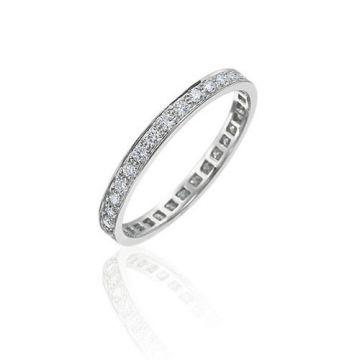 Gumuchian Bridal 18k White Gold Cinderella Diamond Eternity Wedding Band