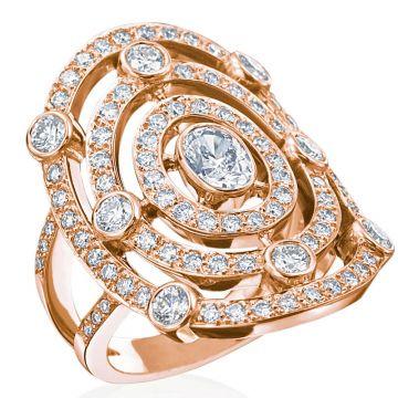 Gumuchian Carousel 18k Gold Diamond Illusion Halo Ring