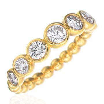 Gumuchian Nutmeg 18k Gold Large Diamond Stackable Band