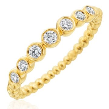 Gumuchian Nutmeg 18k Gold Small Diamond Stackable Band