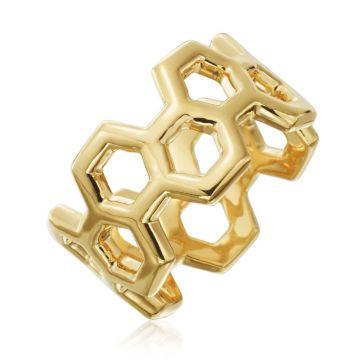 "Gumuchian Honeybee ""B"" 18k Yellow Gold Ring"