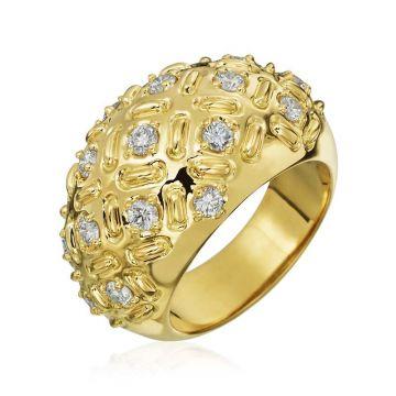Gumuchian Stich by Stich 18k Yellow Gold Diamond Statement Ring