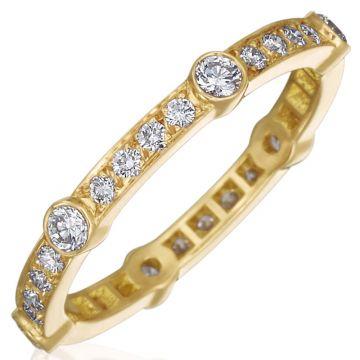 Gumuchian Carousel 18k Gold Diamond Band
