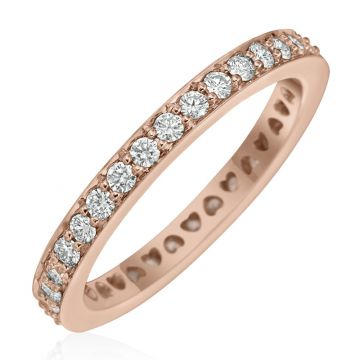 Gumuchian 18k Gold Diamond Tiny Hearts Motif Diamond Wedding Band