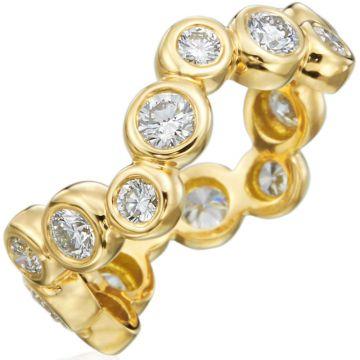 Gumuchian Moonlight 18k Gold Zigzag Diamond Ring