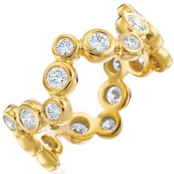 Gumuchian Moonlight 18k Gold Small Zigzag Diamond Ring