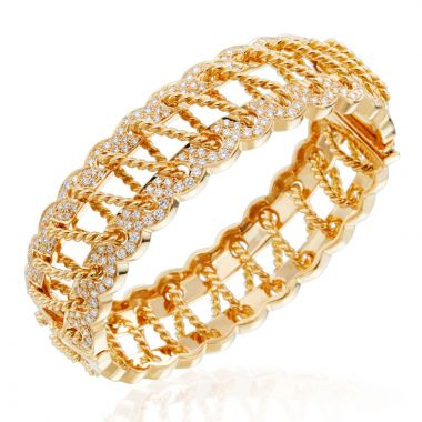 Gumuchian 18k Yellow Gold Diamond Corset Bracelet