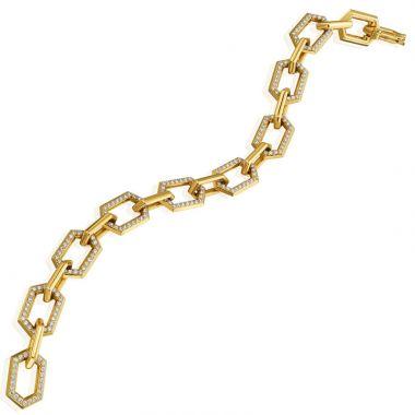 "Gumuchian Honeybee ""B"" 18k Yellow Gold Diamond Bracelet"