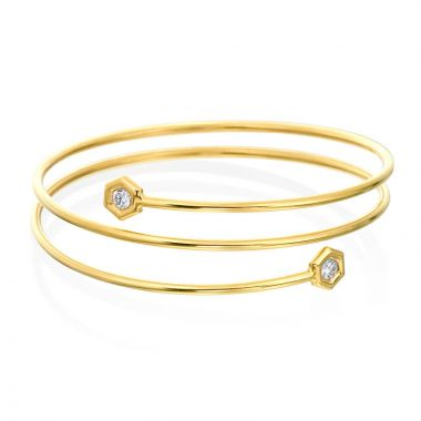 "Gumuchian Honeybee ""B"" 18k Gold Large Tri-Flex Bracelet"